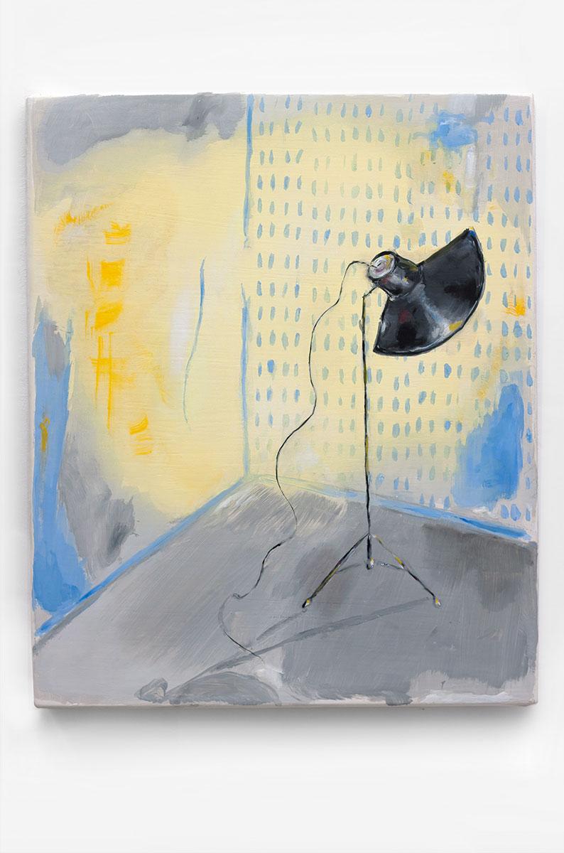 Studio Lime Light, 56 x 47 cm, oil on panel, 2013