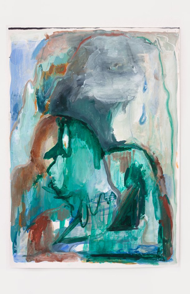 Untitled (Wait for it), 42 x 59 cm. Gouache, acrylics and watercolor on paper, 2016