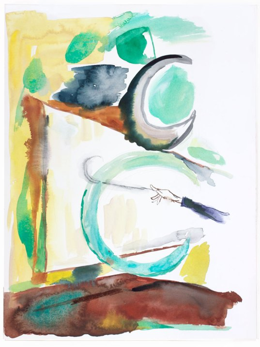 Untitled (Ccc..conductor), 2016. Gouache, pencil and watercolor on paper, 41×31 cm