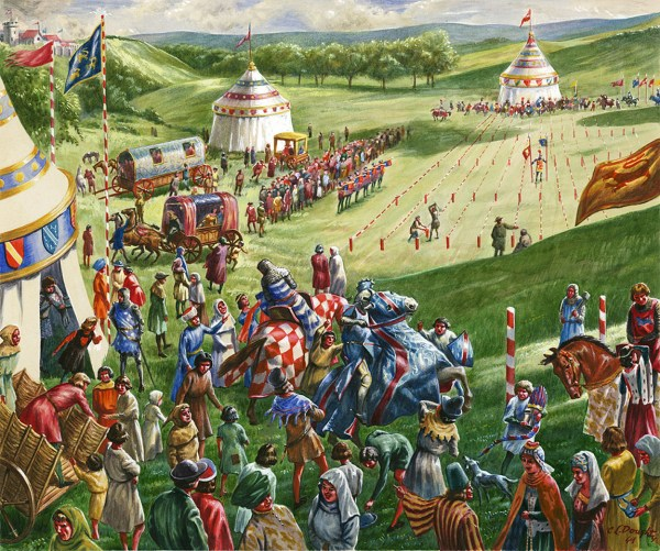 Medieval Tournament Original Signed Cecil Doughty