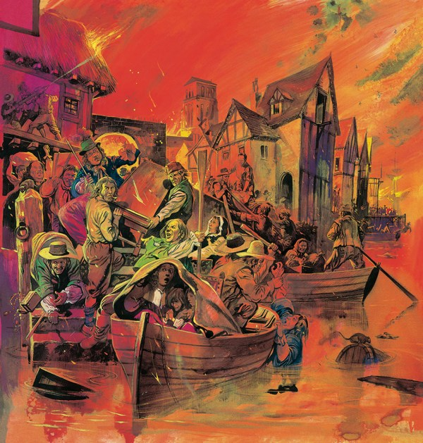 Great Fire Of London Original Gerry Embleton
