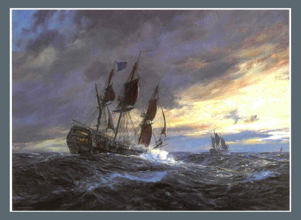 'vanguard' In Heavy Weather Toulon 1798 Limited