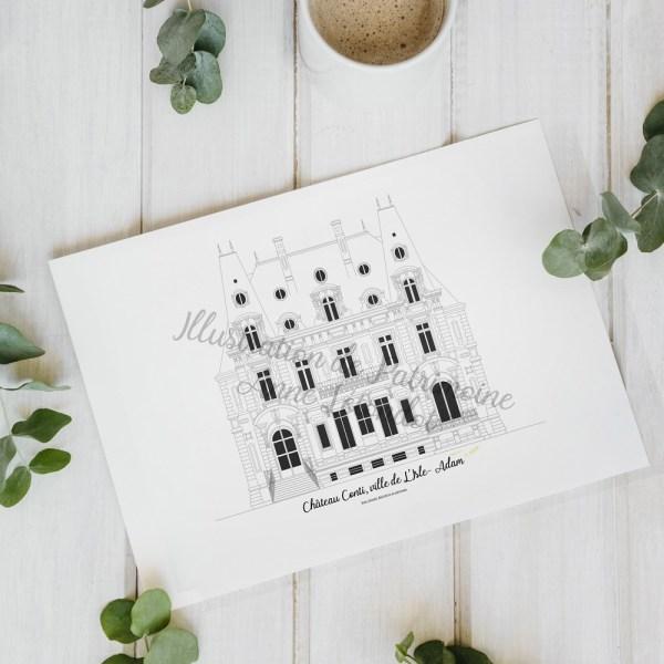 illustration_de_patrimoine_anne_létondot_boutique_chateau_conti_valdoise_region_parisienne_tourisme_patrimoine