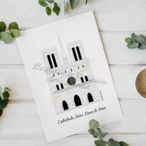 illustration_de_patrimoine_anne_létondot_boutique_paris_symbole_capitale_notra_dame_cathédrale_religion_catholique_patrimoine_tourisme_souvenirs_de_vacances