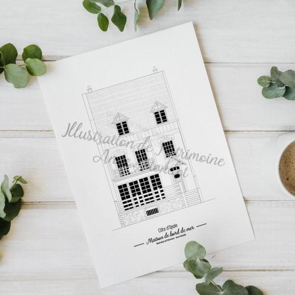 illustration_de_patrimoine_anne_létondot_boutique_patrimoine_tourisme_souvenirs_de_vacances_maison_bord_de_mer_cote_d'opale