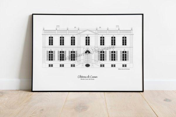 chateau-de-canon_normandie_illustrationdepatrimoine