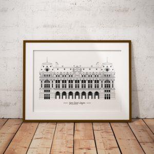 Lazare_Paris_monument_parisien_imagerie_parisienne_illustrationdepatrimoine