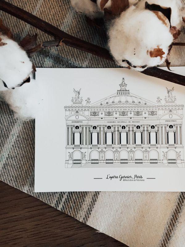 Opéra-Garnier-Illustration-de-Patrimoine-palais-danse-classique-petit-rat-de-lopéra