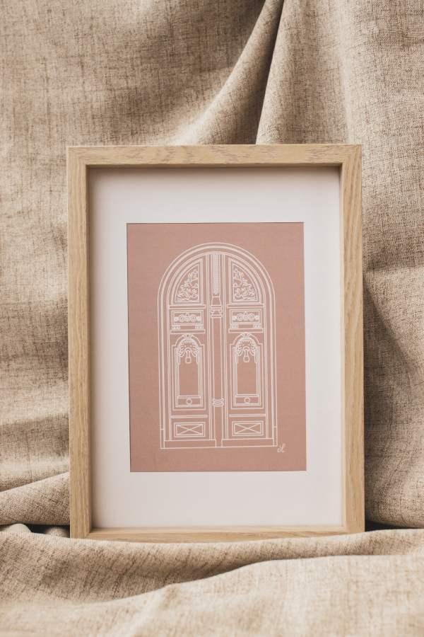 Illustration_de_patrimoine_collection_portes_coloris_rose_jolies_portes