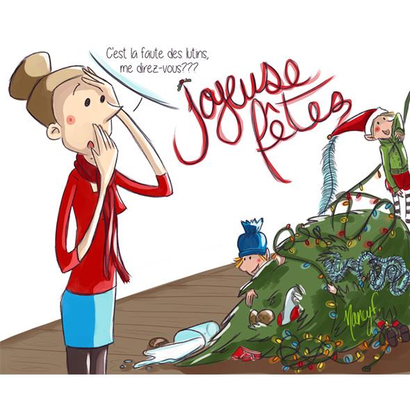 joyeuses fêtes 2018 nancy fournier illustratrice bédéblog