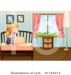 Bedroom Clipart #1184413 Illustration by Graphics RF