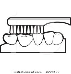 teeth clipart brushing illustration clip tooth dental shark royalty false lal perera rf clipartmag categories