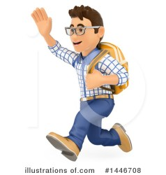 College Student Clipart #1446708 Illustration by Texelart