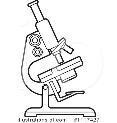 Microscope Clip Art Black And White Sketch Coloring Page