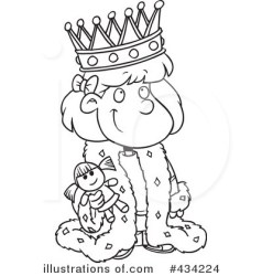 queen clip clipart crown king royal illustrations outline royalty