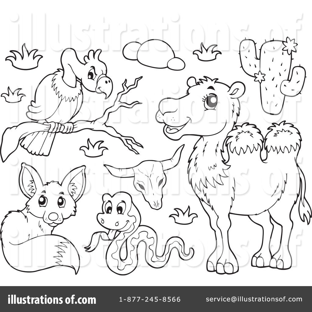 Herbivore Animals Clipart Black And White