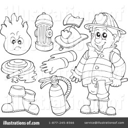 clipart fireman illustration visekart royalty rf