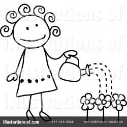 Gardening Clipart #1106498 Illustration by C Charley Franzwa