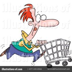 shopping clipart illustration royalty leishman ron rf toonaday cart sample