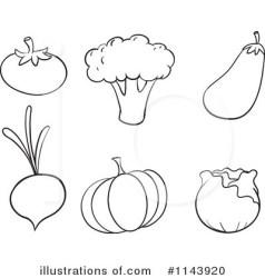 clipart vegetables veggies clip brinjal cartoon cauliflower fruits rf various graphics divers legumes cliparts vector illustrazioni cart illustrations canstockphoto