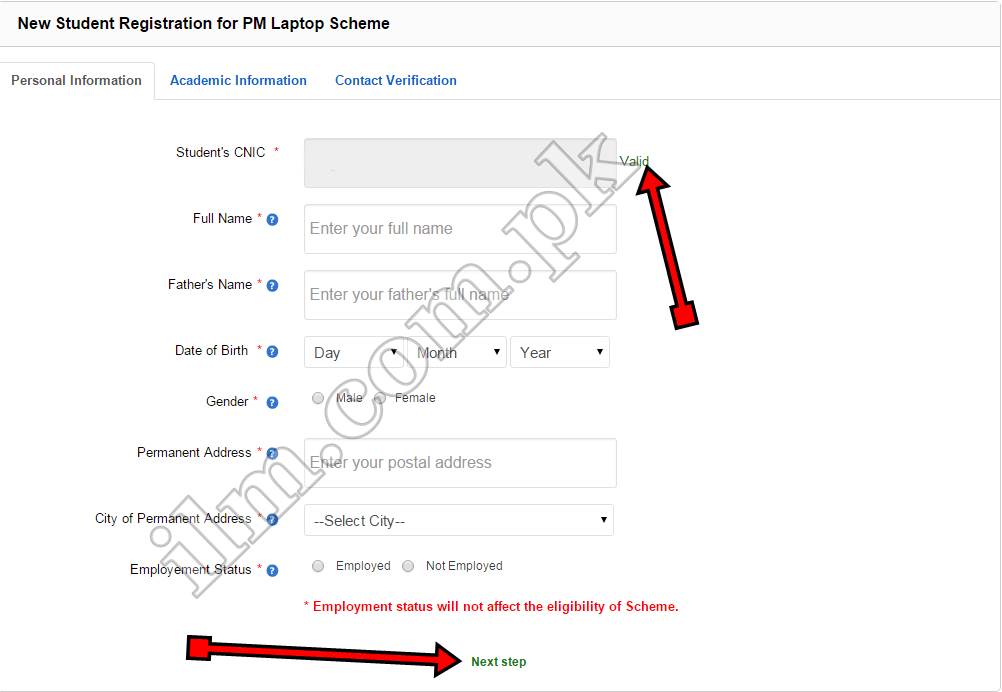 Prime Minister Laptop Scheme Online Registration Procedure