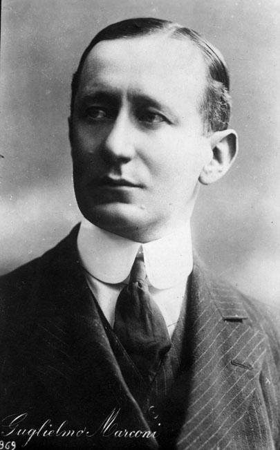 circa 1920: Guglielmo Marconi (1874 - 1937) Italian physicist and electrical engineer. He developed the equipment for converting radio waves into electrical signals: in 1895 he successfully transmitted long-wave radio signals, and in 1901 sent signals across the Atlantic. He shared the Nobel prize for physics in 1909. (Photo by Henry Guttmann/Getty Images)