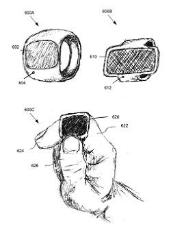 Una rappresentazione dell'anello di Apple dalla domanda di brevetto - Per gentile concessione del Patent and Trademark Office degli Stati Uniti.