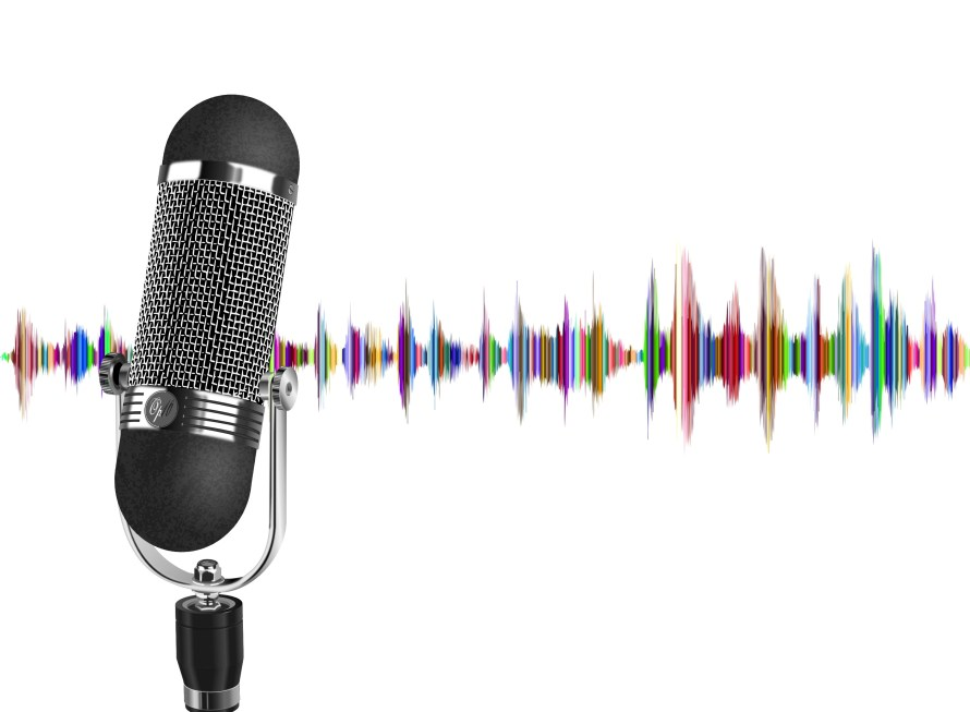 podcast, microphone, wave