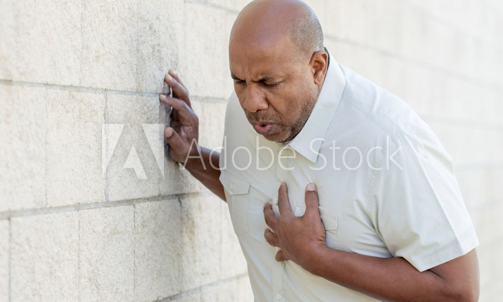 African American man with chest pains