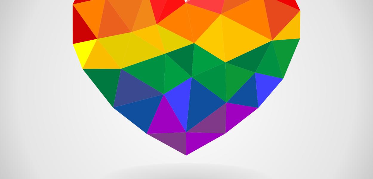 rainbow, heart, colorful