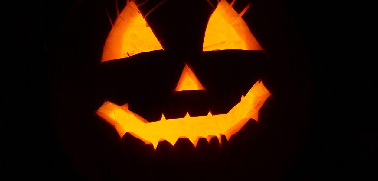 pumpkin, halloween, illuminated