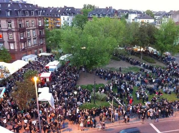Una veduta del mercatino. Fotod a Facebook
