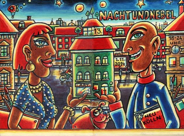 Illustrazionne di Frank Rexin per Nachtundnebel 2014