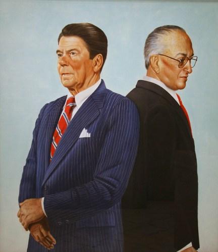 Ronald Reagan e Yuri Andropov, dipinto di Alfred Leslie, 1983