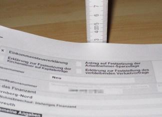 G come Germania. Steuererklärung: tempo di dichiarazione dei redditi 2017