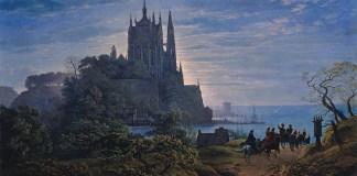 Karl Friedrich Schinkel Chiesa Gotica su una roccia sul mare Alte Nationalgalerie