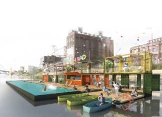 La Badeschiff di Berlino: una piscina galleggiante sul fiume Sprea