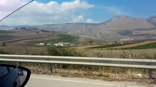 on the road sicilia