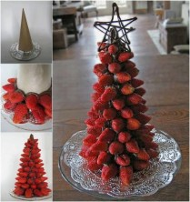 food-design-albero-di-natale-di-fragole