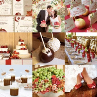 apple red wedding