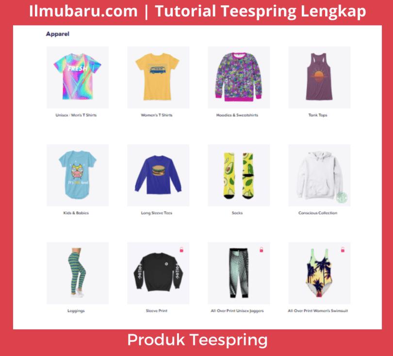 contoh Produk Teespring