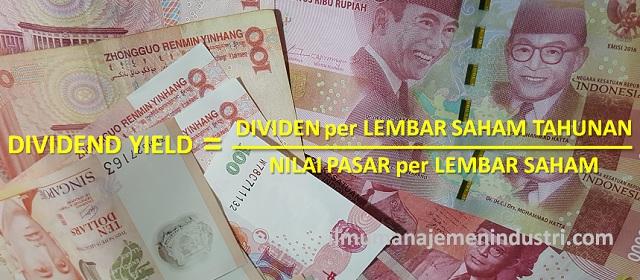 Pengertian Dividend Yield dan Rumus Dividend Yield (Hasil Dividen)