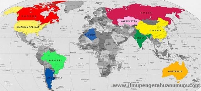 10 Negara Terbesar Di Dunia Berdasarkan Luas Wilayahnya