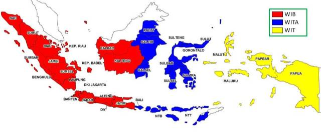 Pembagian Waktu Di Indonesia Zona Waktu Indonesia