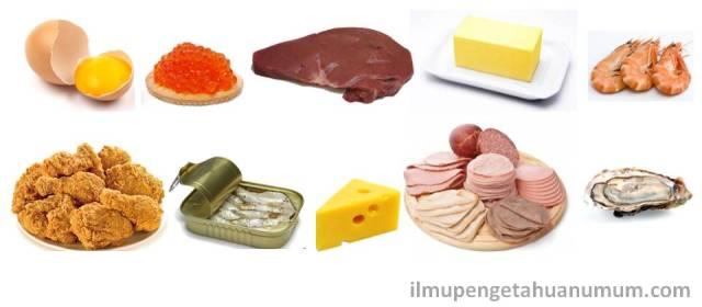 Makanan yang mengandung kolesterol tertinggi