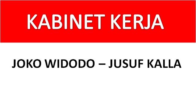 Susunan Kabinet Jokowi-JK