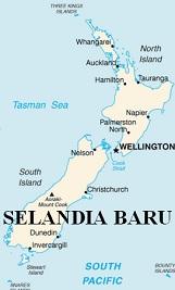Peta Selandia Baru