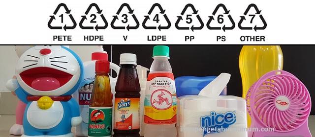 Jenis-jenis plastik dan arti kode daur ulang plastik