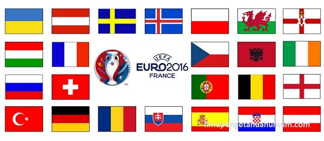 Daftar 24 Tim Negara Peserta Piala Eropa 2016 (Kejuaraan Sepakbola UEFA)