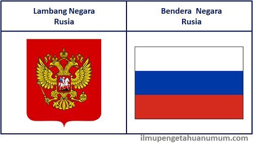 Lambang Negara Rusia dan Bendera Rusia